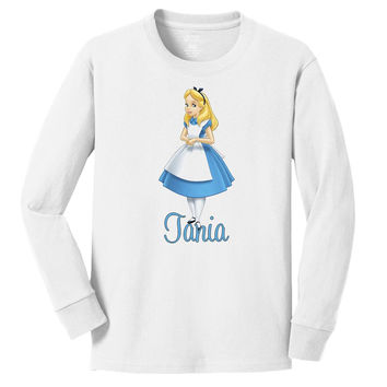 Disney's Alice personalized long sleeve T shirts