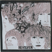 The Beatles Iron-On Patch Revolver Cover