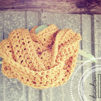 chunky crochet infinity endless scarf by LuLu Belle Designs