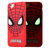 Luminous eyes 2017 new cool cartoon soft silicone case for apple iphone 5 5s SE 6 6s plus hello kitty spiderman garfield cover