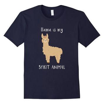Llama Is My Spirit Animal Shirt - Cute Alpaca T-Shirt