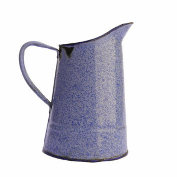 Vintage Blue Enamel Ware Pitcher.