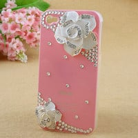 Camellia Phone Cover Transparent Phone Skin For IPhone 4/4s/5