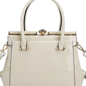 Fit For a Queen Hand Bag OFF WHITE