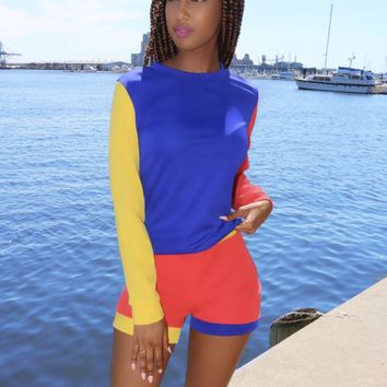 Sporty Color Block Set