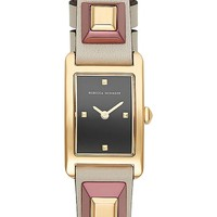 Rebecca Minkoff Moment Studded Leather Strap Watch, 19mm x 30mm | Nordstrom