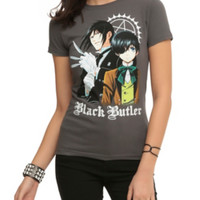 Black Butler Sebastian And Ciel Girls T-Shirt