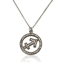 Silver Diamond Sagittarius Necklace | Laura Lee | Avenue32