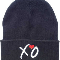Thursday Album Cover Embroidered XO the Weeknd Knit Hat