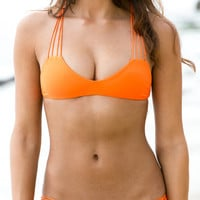 The Girl and The Water - Mikoh Swimwear - Banyans Bikini Top / Sunrise - $100