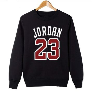 Streetwear Hoodie 2018 Fashion Sweatshirt Men/Women Streetwear Long Sleeve Red Jordan 23 Print Casual O-Neck Sportswear Tops