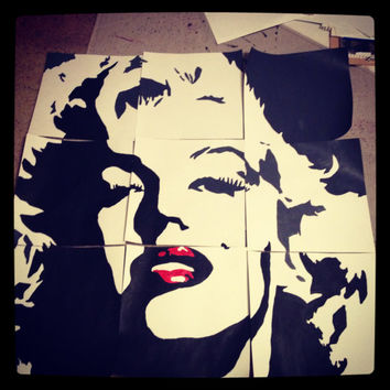 Marilyn Monroe Panel Collage by ZebraInAdidas on Etsy