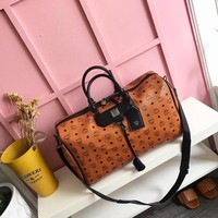 MCM Women Leather Shoulder Bag Shopping Satchel Tote Bag Handbag