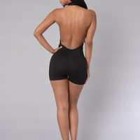 Dash Romper - Black