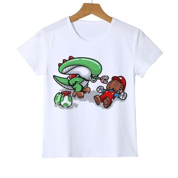 Super Mario party nes switch  bros Kid t shirts Alien and  Boy/girl t shirt cute game fans baby t shirt Cartoon high quality game gift Y8-36 AT_80_8