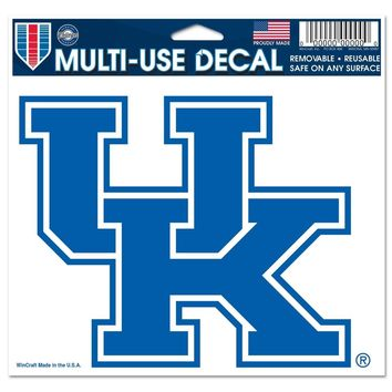 "KENTUCKY WILDCATS ""UK"" 5""X6"" COLOR ULTRA DECAL WINDOW CLING NEW WINCRAFT"