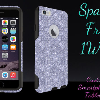 "OtterBox Commuter Series Case for 4.7"" iPhone 6 - Custom Glitter Case for 4.7"" iPhone 6 - Silver/Black"