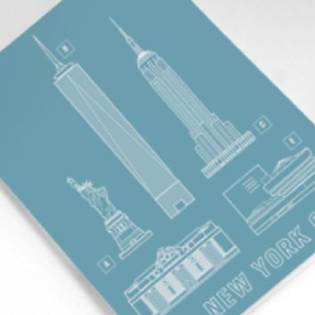 Structures of NYC Greeting Card