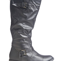 Tall Buckle Moto Boot