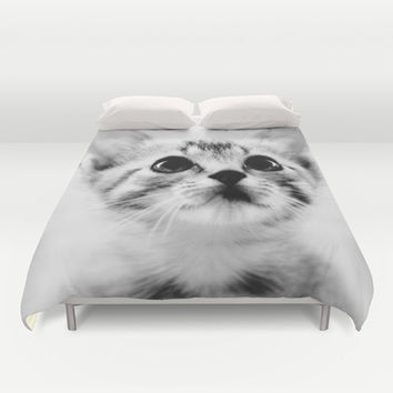 Sweet Kitten Duvet Cover by Erin Johnson