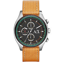 AX Armani Exchange Men's Watch Chronograph Stainless Steel Case with B
