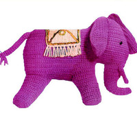 Crochet TOY Pattern Vintage 70s Crochet Elephant Toy Pattern Stuffed Animal Pattern Crochet Baby Toy Pattern