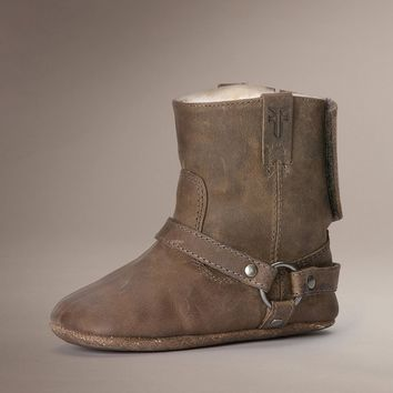 Tan Harness Bootie Shearling by TheFryeCompany,
