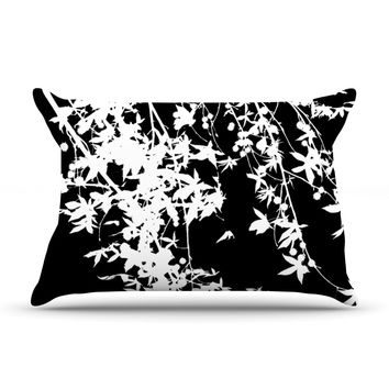 "Ingrid Beddoes ""White on Black"" Pillow Sham"