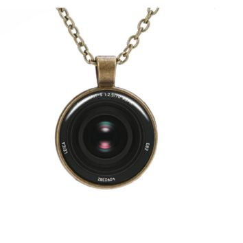Fashion Charming 3D Camera Ethnic Silver Plated Necklace For Women