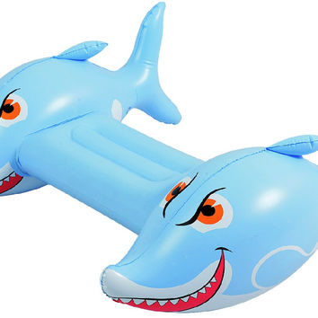 "34"" Blue and White Shark Children's Inflatable Swimming Pool Kickboard"
