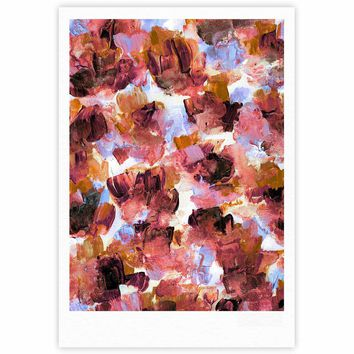 """Ebi Emporium """"Floral Spray 3"""" Purple Lavender Floral Abstract Painting Mixed Media Fine Art Gallery Print"""