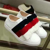GUCCI Bow Women Fashion Sneakers Sport Shoes