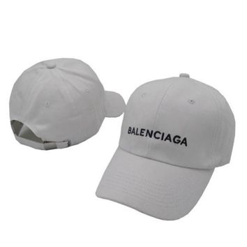 LMFONPR White Balenciaga Embroidered Embroidered Outdoor Baseball Cap Hats