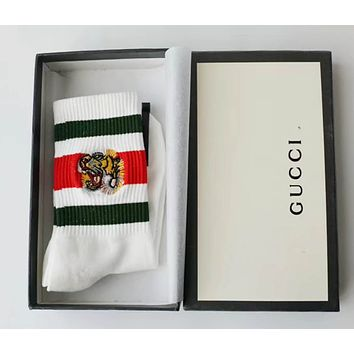 GUCCI Fashion Embroidery Tiger Socks Stockings