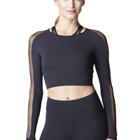 Garnet Crop Top - Black – Michi
