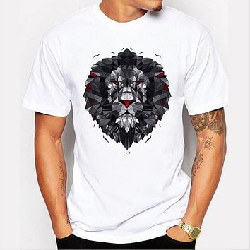 Summer Men's 3D Printing white Top Clothes T-shirt