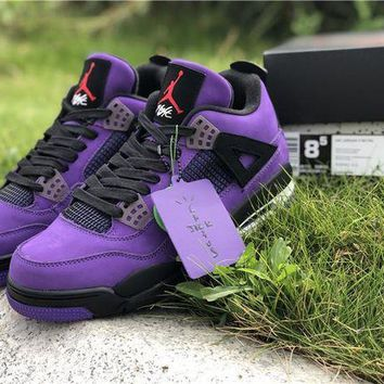 DCCK Travis Scott x Air Jordan 4 Black/Purple