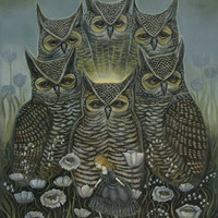 Light of the Owls - 11 x 14 Print