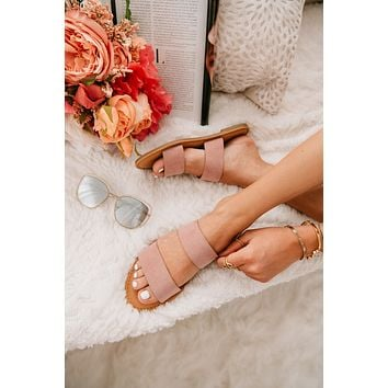 Step On It Double Band Sandals (Blush)