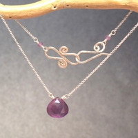 Necklace 006 - choice of stone - GOLD