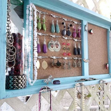 Jewelry Organizer Wall Display Vase Shelf Message by datedbydesign