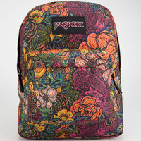 Jansport Black Label Superbreak Backpack Multi Oriental Bloom One Size For