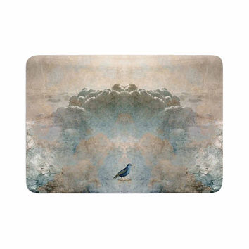 "Pia Schneider ""Heavenly Bird"" Blue Animals Memory Foam Bath Mat"