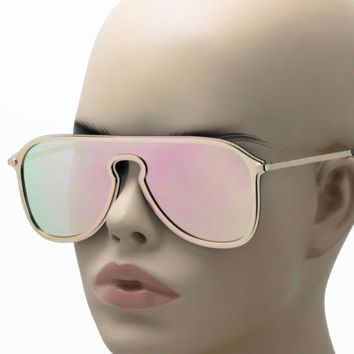 NEW Huge Lens Skull Rivet Sunglasses Oversized Shield Syle Fashion Shades 2018