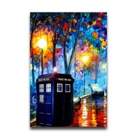 "Doctor Who - Glow In The Dark TV Show Poster (The Doctor & The Tardis) (Size: 20"" x 30"")"