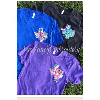 State and Monogram on Left Chest Tee