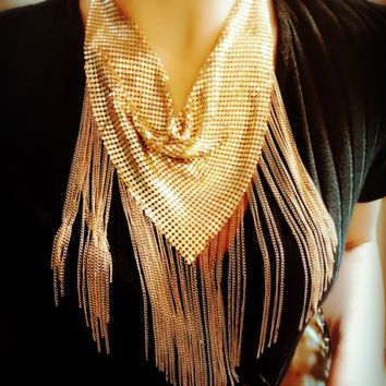 Weaved Bib Weaved and Tassel Statement Necklace - LilyFair Jewelry