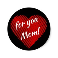 Mother's day special- my heart is for you Mom Classic Round Sticker