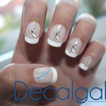 Frozen Olaf Disney Princess Nail Art Water Transfer Decal - Waterslide Paper - Water Slide Paper