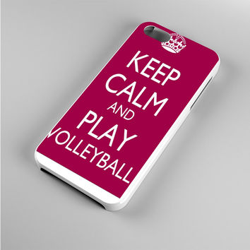 Keep Calm Play On Volleyball Purple Iphone 5s Case
